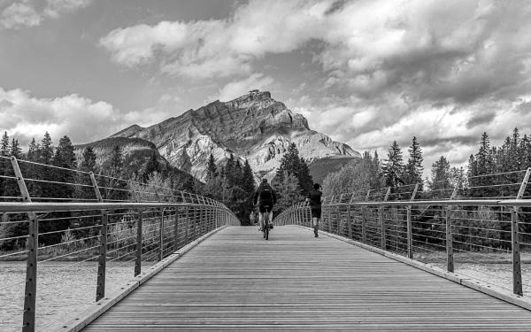 Banff Pedestrian Bridge by pdunstan_Greymoon