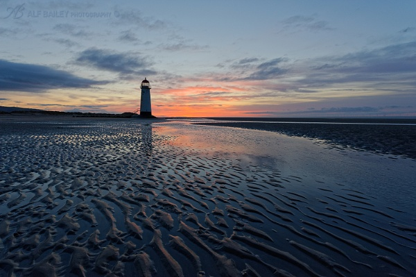 Talacre Sunset by Alffoto