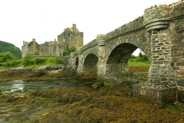 Eilean Donan Castle on a grey day by mikekay