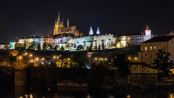 Prague At Night by Xandru