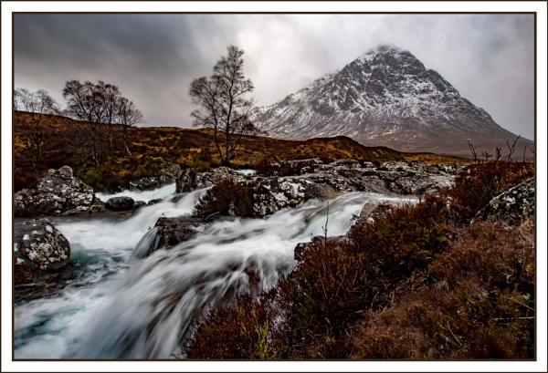 Riverr Etive below Black Mount by tonyheps