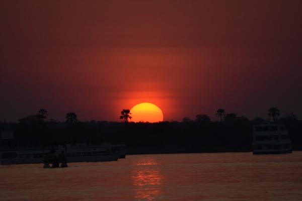 Sunset over the Zambezi by hippysnapper