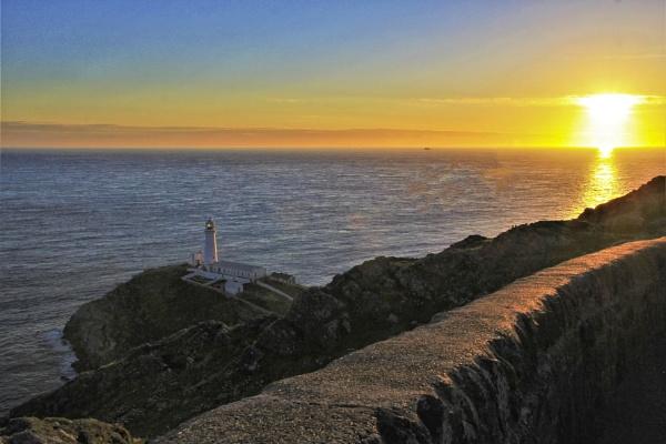 lighthouse sunset by pks