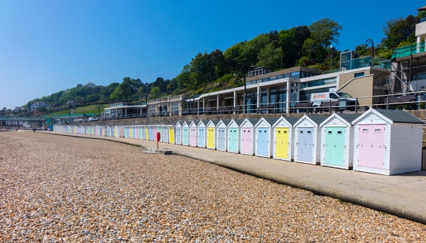 Beach Huts, Marine Parade, Lyme Regis by starckimages