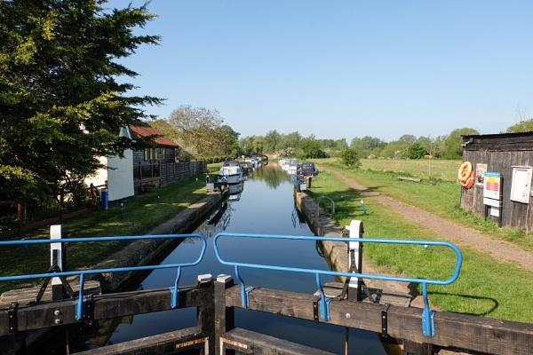 Sandford Mill lock river Chelmer Essex UK by bluetitblue