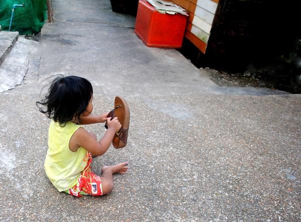 Children at play. by Chinga
