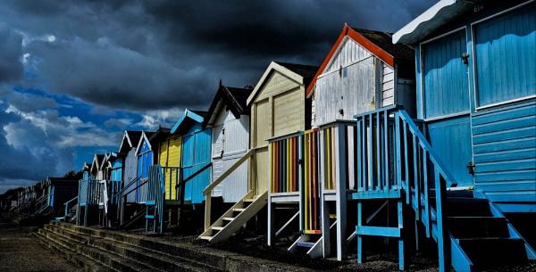 Frinton Beach Huts by Berniea