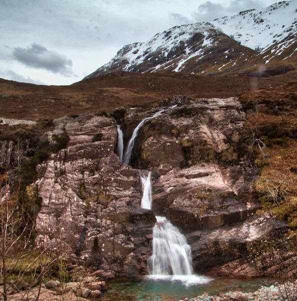Glen Coe Waterfall. by Adrian57