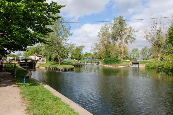 Paper mill lock river Chelmer Essex  by bluetitblue