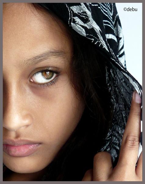 Half a Face.. by debu