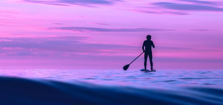 paddle at dawn