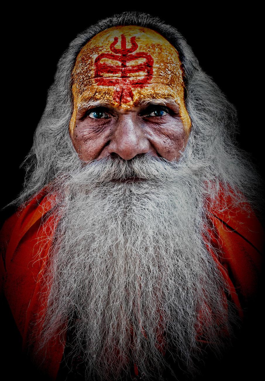 A distinctive looking sadhu.......