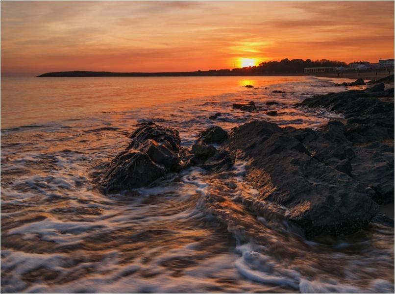Sunset at Whitmore Bay.