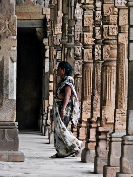 Rajasthani woman in temple ... by chrisdunham