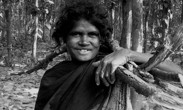 Happy woman by debu