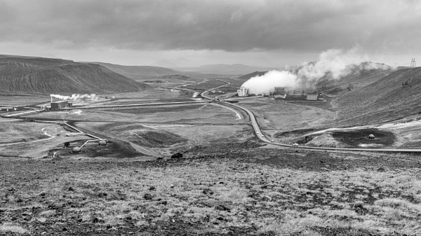 The Krafla geothermal power plant, Iceland by pdunstan_Greymoon
