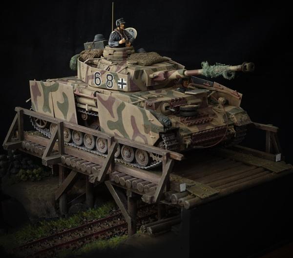 Panzer on bridge. by altitude50