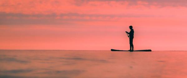 morning paddle boarder by stebesty