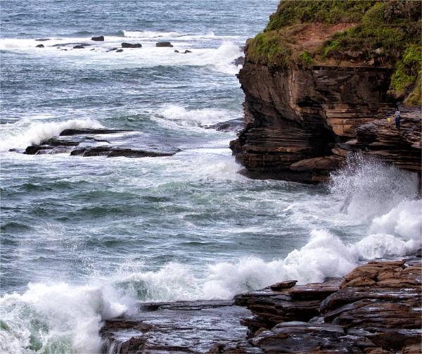 Waves On Rocks by tvhoward950