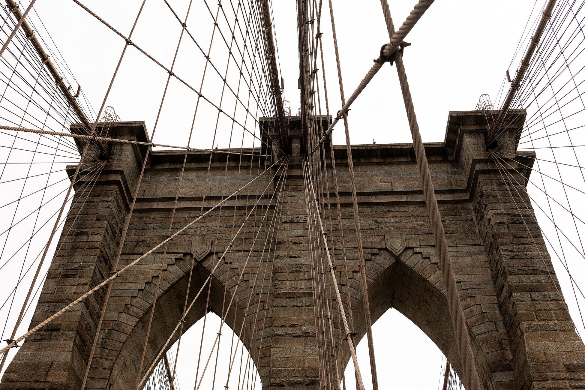 Brooklyn Bridge Detail On A Grey New York Day!