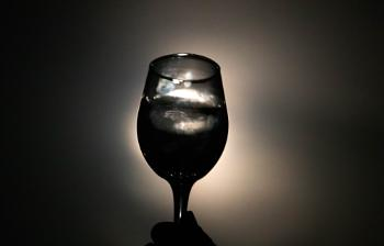 Moon through a wine glass