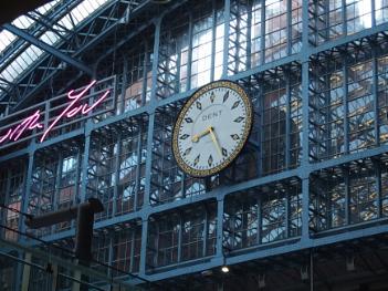 Clock at St Pancras