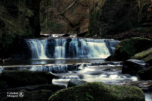 Powforth Burn Waterfall by Jmag60