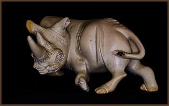soapstone Rhino carving