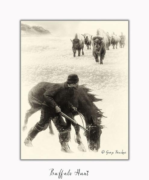 Buffalo Hunt by rusty
