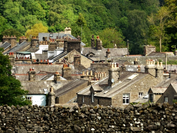 Kirkby Lonsdale rooftops by cookyphil