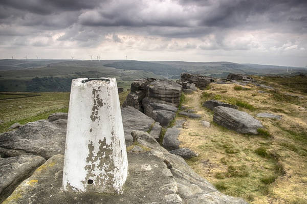 Trig Point on The Bridestones by iangilmour
