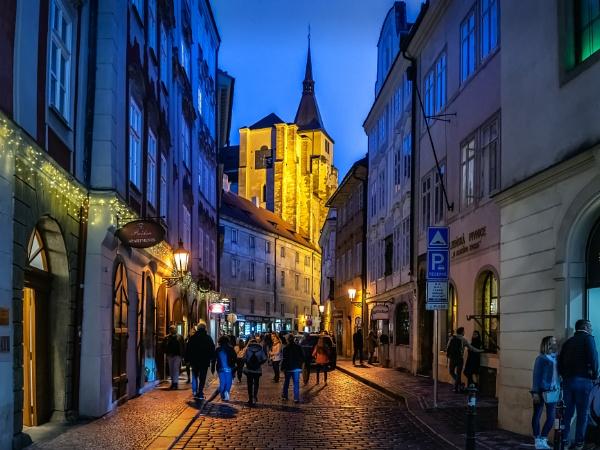Blue Hour in Prague by Xandru
