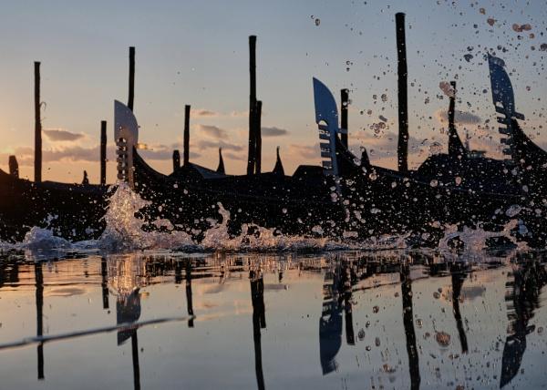 Venice Gondolas by edw1