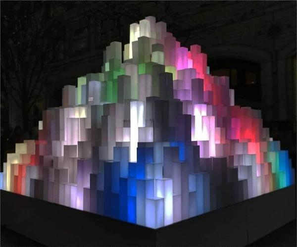 Lights sculpture at  Winter Lights London by StevenBest