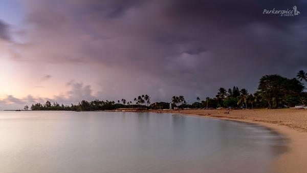 North Shore, Hawaii, at twilight by bridgendboy