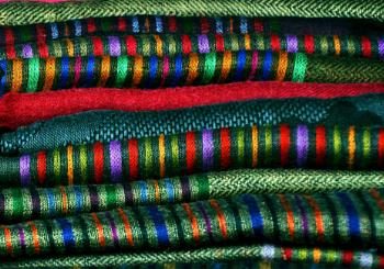 Textiles, textures and colours...