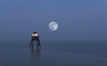 Moon & Lower Lighthouse