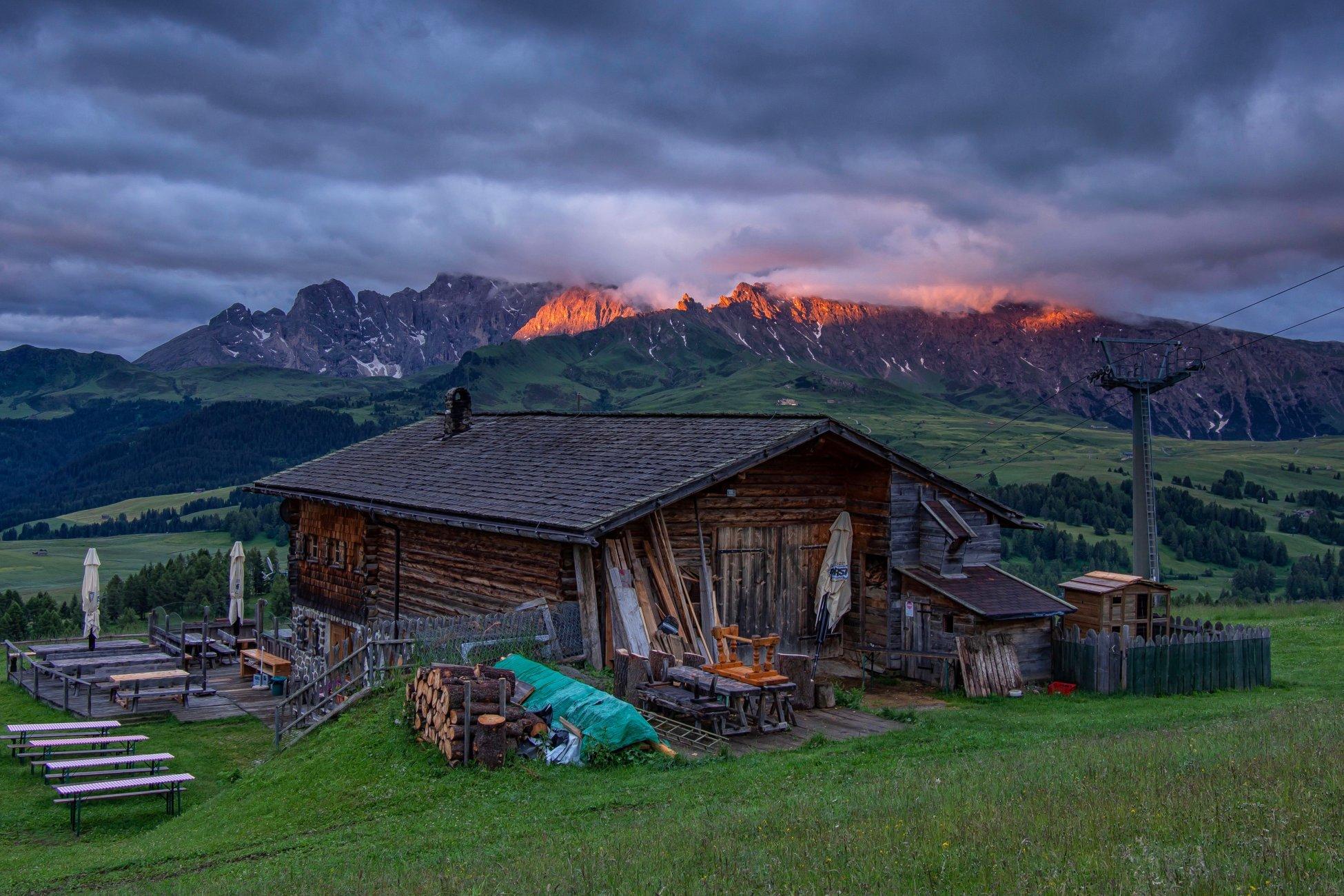 Dawn on the Alp di Siusi
