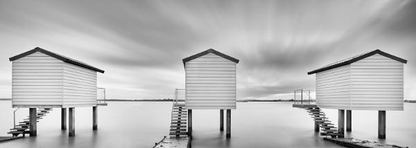 Osea Beach Huts by Les_Cornwell