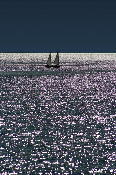 Sailing on Norton Sound, northwest Alaska. by fotolooney