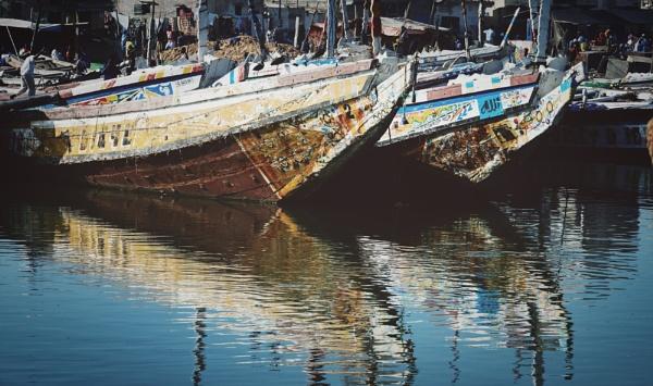 Boats Senegal Harbour by Backabit
