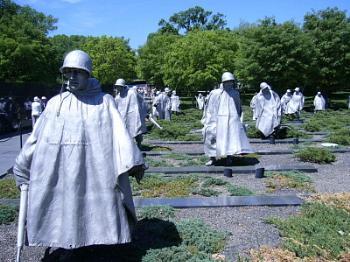 Korean War Memorial. Washington. USA