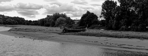 Old boat on River Taw by eyelevelphotographyuk