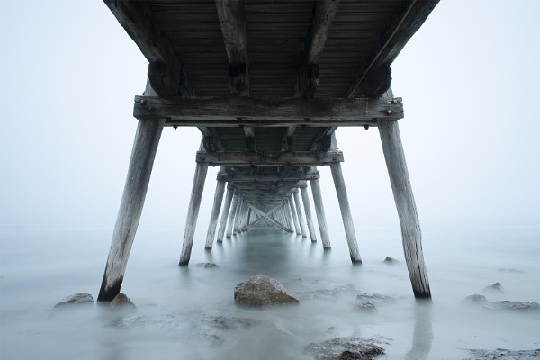 Under the Port Hughes Jetty by jennialexander