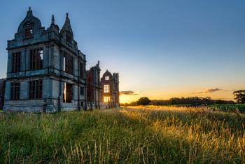 Old manor at sunrise