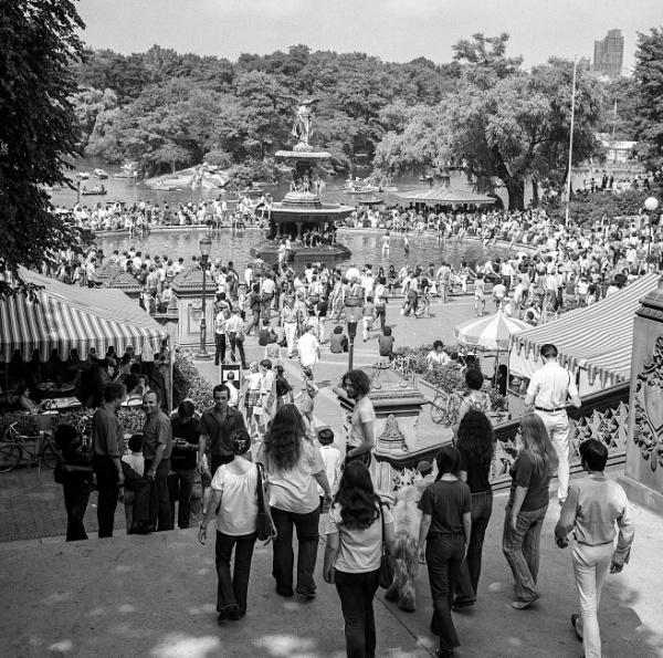 1970: Bethesda Fountain by KingBee