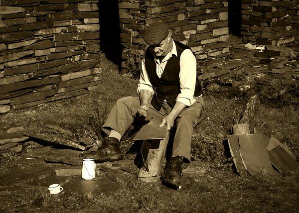 Cwmorthin Slate Worker by Buffalo_Tom