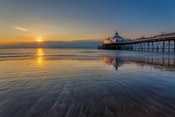 Eastbourne Pier at Sunrise by Gogliamo