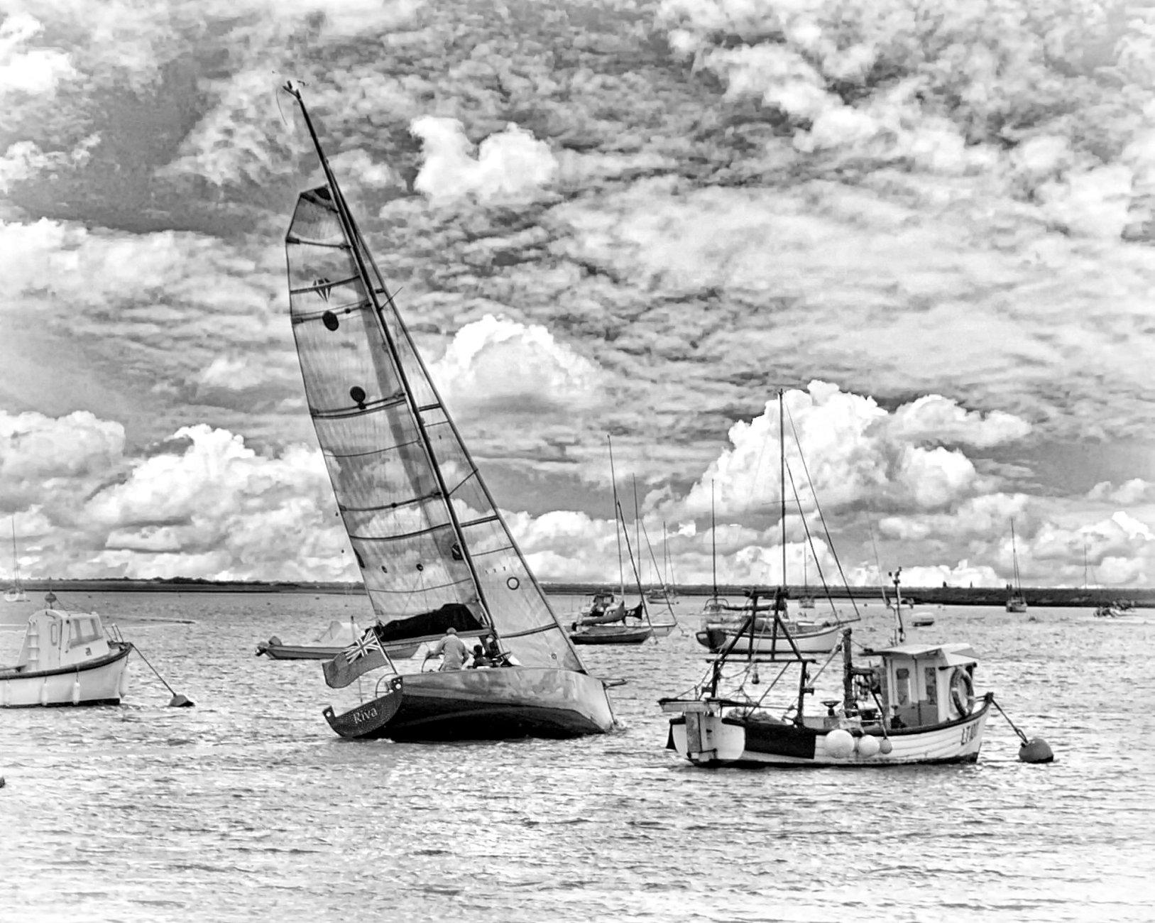 Sailing under a big sky