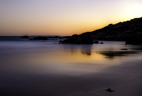 Plemont bay sunrise by happysnapper